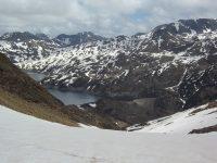 La Porteille du Lanoux depuis le Col du Puymorens