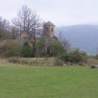 Chapelle d'Arnave depuis Tarascon sur Ariège